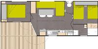 Plan Mobil-home for 4/6 people